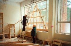 Ремонт и строительные работы в здании столовой